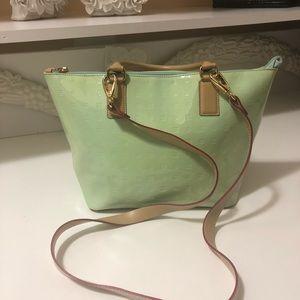 ARCADIA Italian patent leather bag